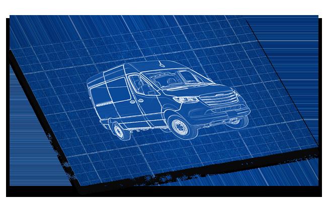 Blueprint for Sprinter Van