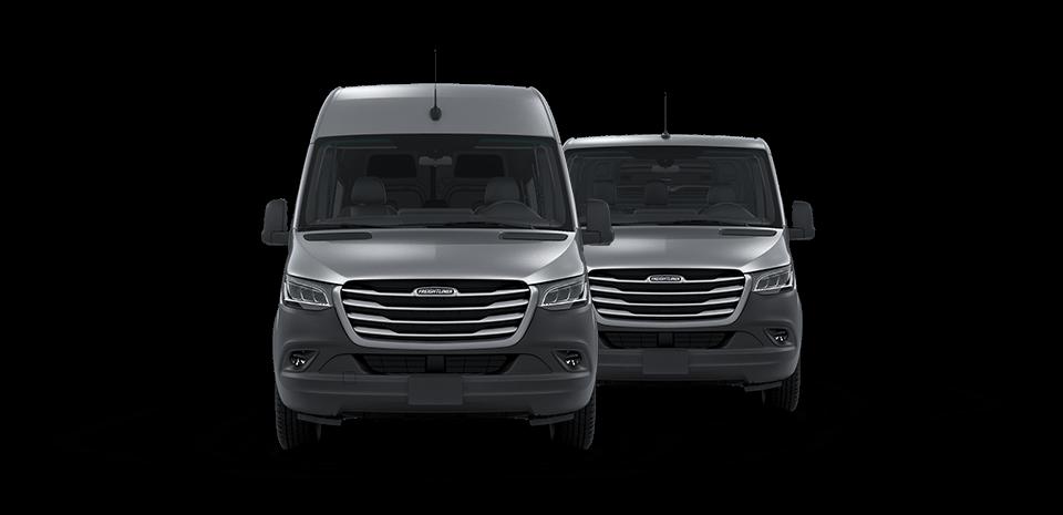 Two Silver Freightliner Sprinter Vans