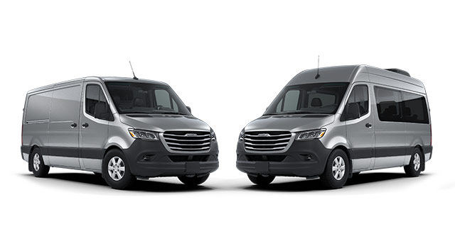 Two Freightliner Sprinter Vans