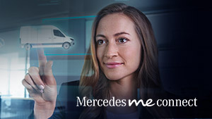 Mercedes-Benz Van Mercedes PRO connect graphic on dashboard