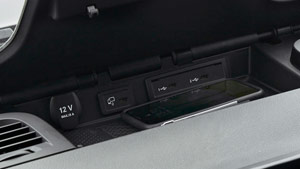 Mercedes-Benz Van smartphone integration closeup