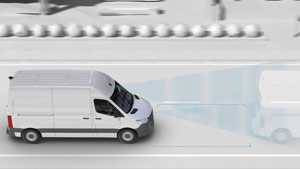 Mercedes-Benz Van active brake assist graphic