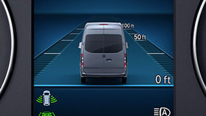 Mercedes-Benz Van active distance assist graphic