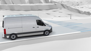 Mercedes-Benz Van active lane keep graphic