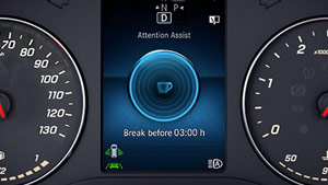 Mercedes-Benz Van attention assist graphic