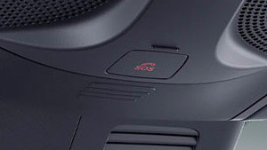 Mercedes-Benz Van emergency call button closeup