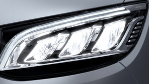 Mercedes-Benz Van led headlights closeup