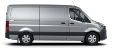 Silver Sprinter Cargo Van