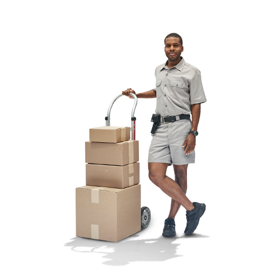 Parcel Couriers Using Sprinter Van