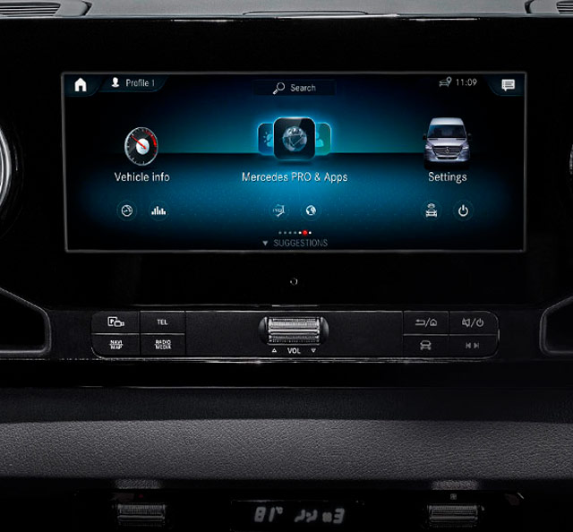 Mercedes-Benz Vans Dash and Apps