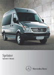 Sprinter Passenger Van on an operators manual cover