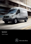 Sprinter Cargo Van driving on a cover for an operators manual