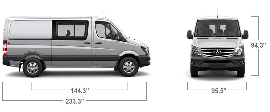 sprinter crew van features mercedes benz vans. Black Bedroom Furniture Sets. Home Design Ideas