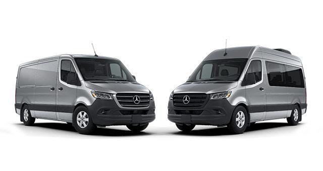 Silver Cargo Sprinter Vans