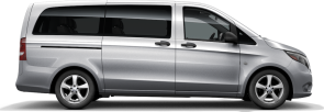 side profile of a silver Metris Passenger Van