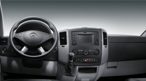 Sprinter crew van features mercedes benz vans for Commercial van interior accessories