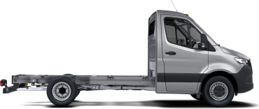 side profile of a silver Sprinter Cab Chassis