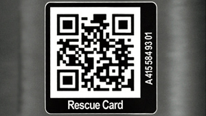 rescue assist QR code card