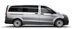 White Metris Passenger Van