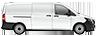 side profile of a white Metris Cargo Van