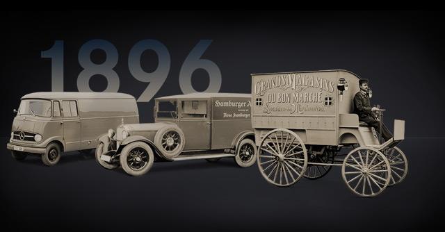 mercedes benz vans history 1896