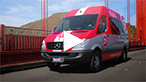 Thumbnail for a Sprinter Van video with a red Passenger Van